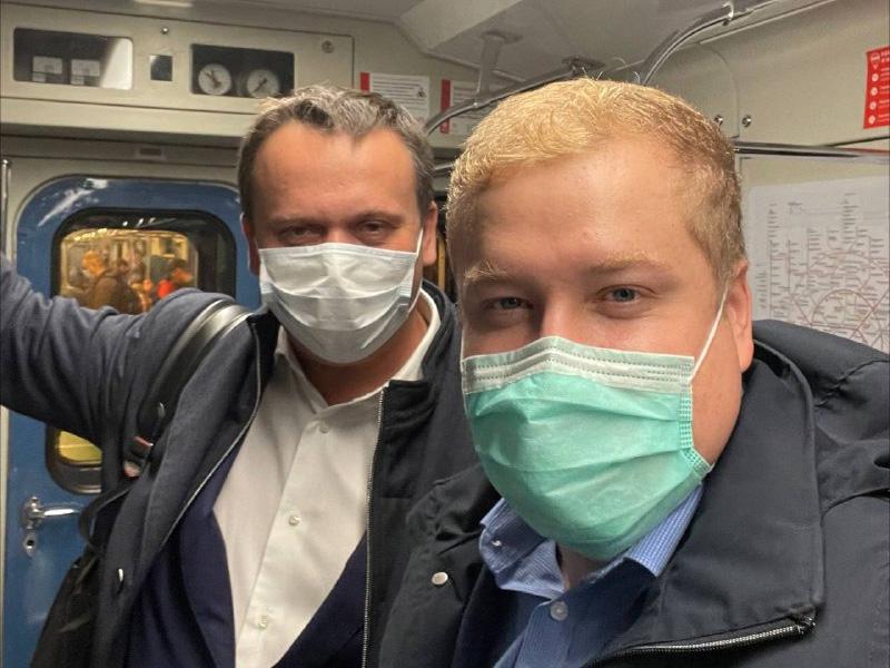 Губернатор в метро