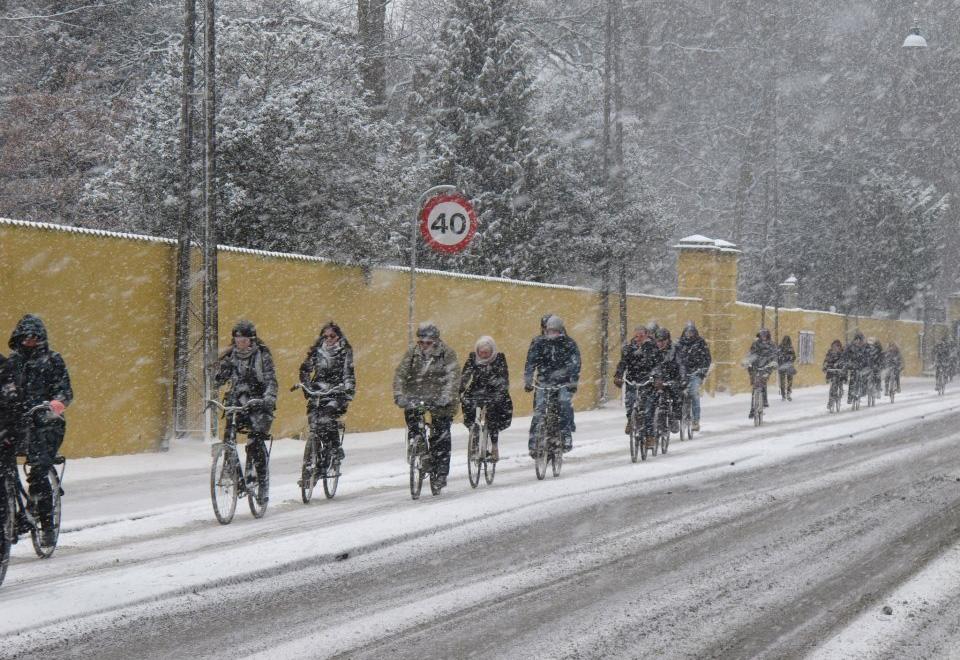 Люди едут на работу. Копенгаген, Дания