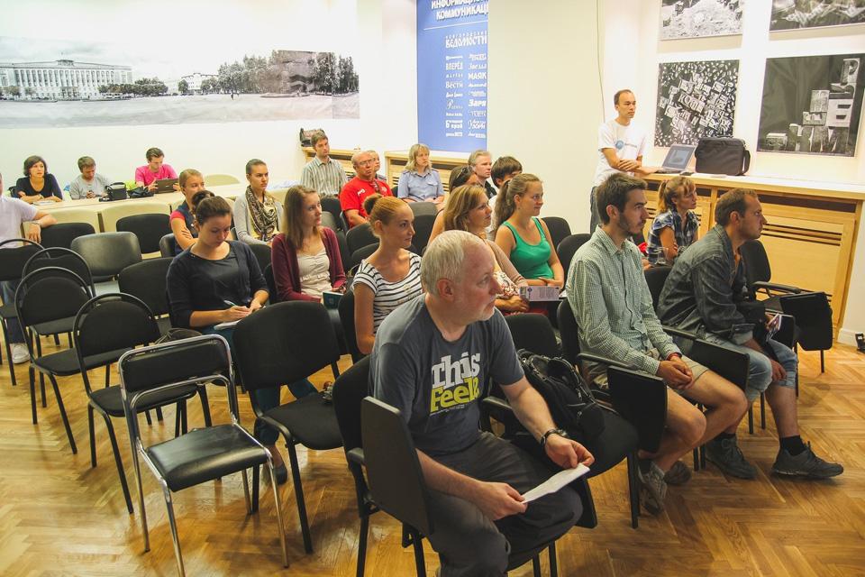 Лекция велошколы в Великом Новгороде