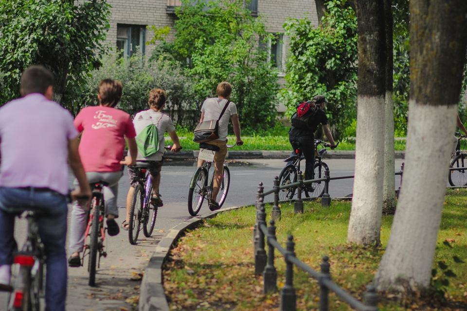 Практика велошколы в Великом Новгороде
