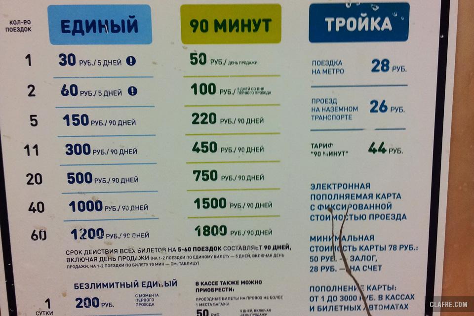 Проезд в московском метро