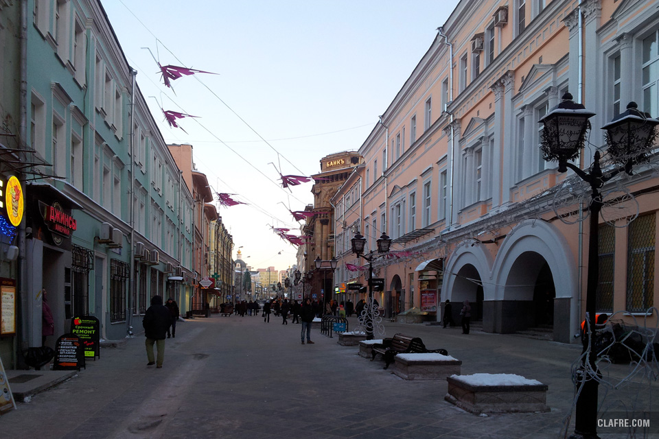 Пешеходные улицы Москвы