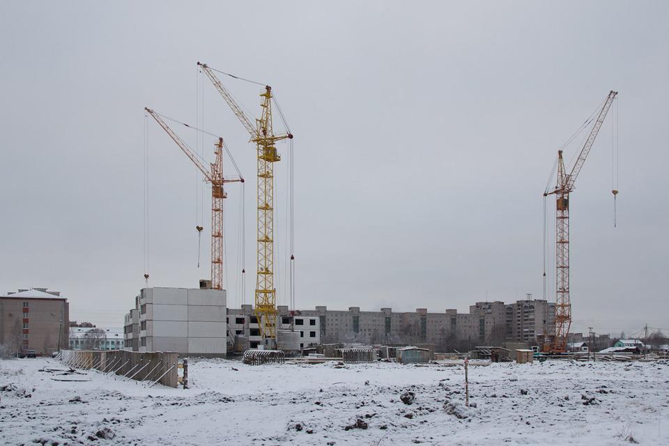Строительство микрорайона Ивушки