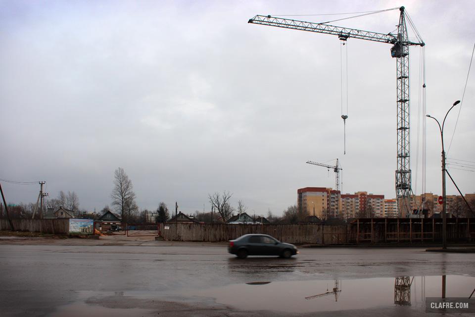 Выезд с улицы Попова на Ломоносова