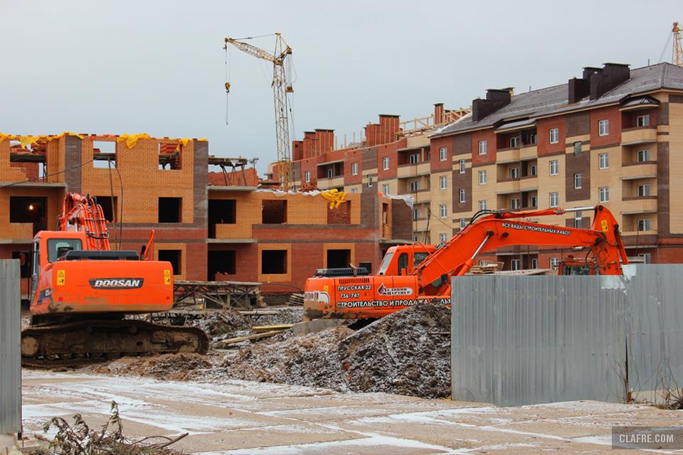 Строительство на Речной улице
