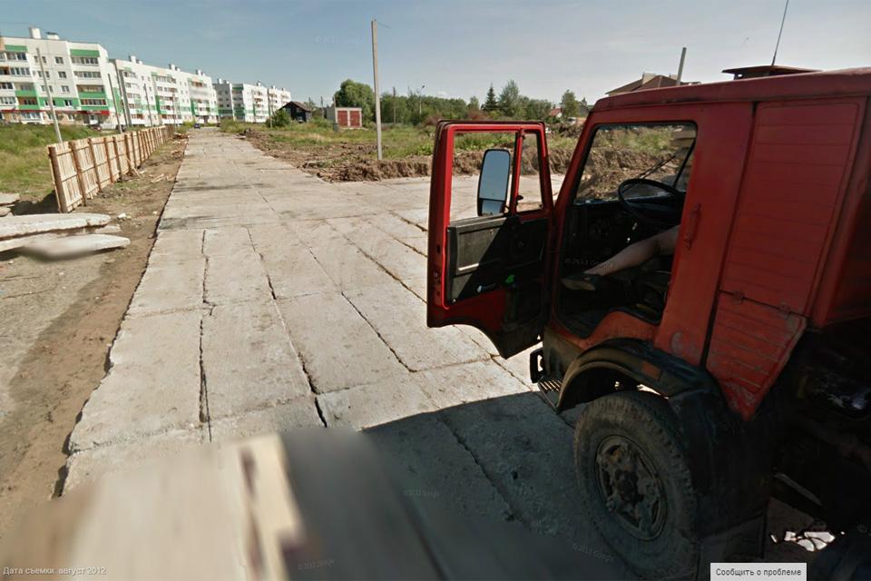 Строительная дорога к Псковской Слободе. Google
