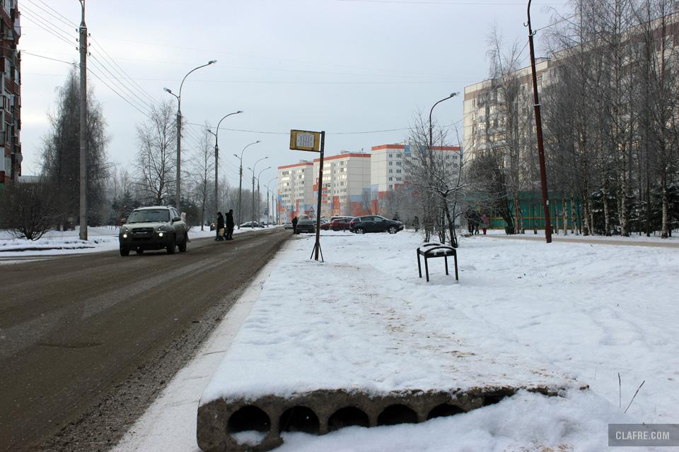 Автобусная остановка на улице Коровникова