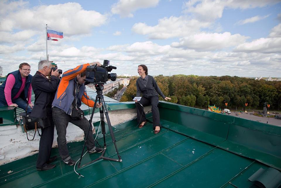 Крыша Правительства Новгородской области. Фото: Анна Соколова