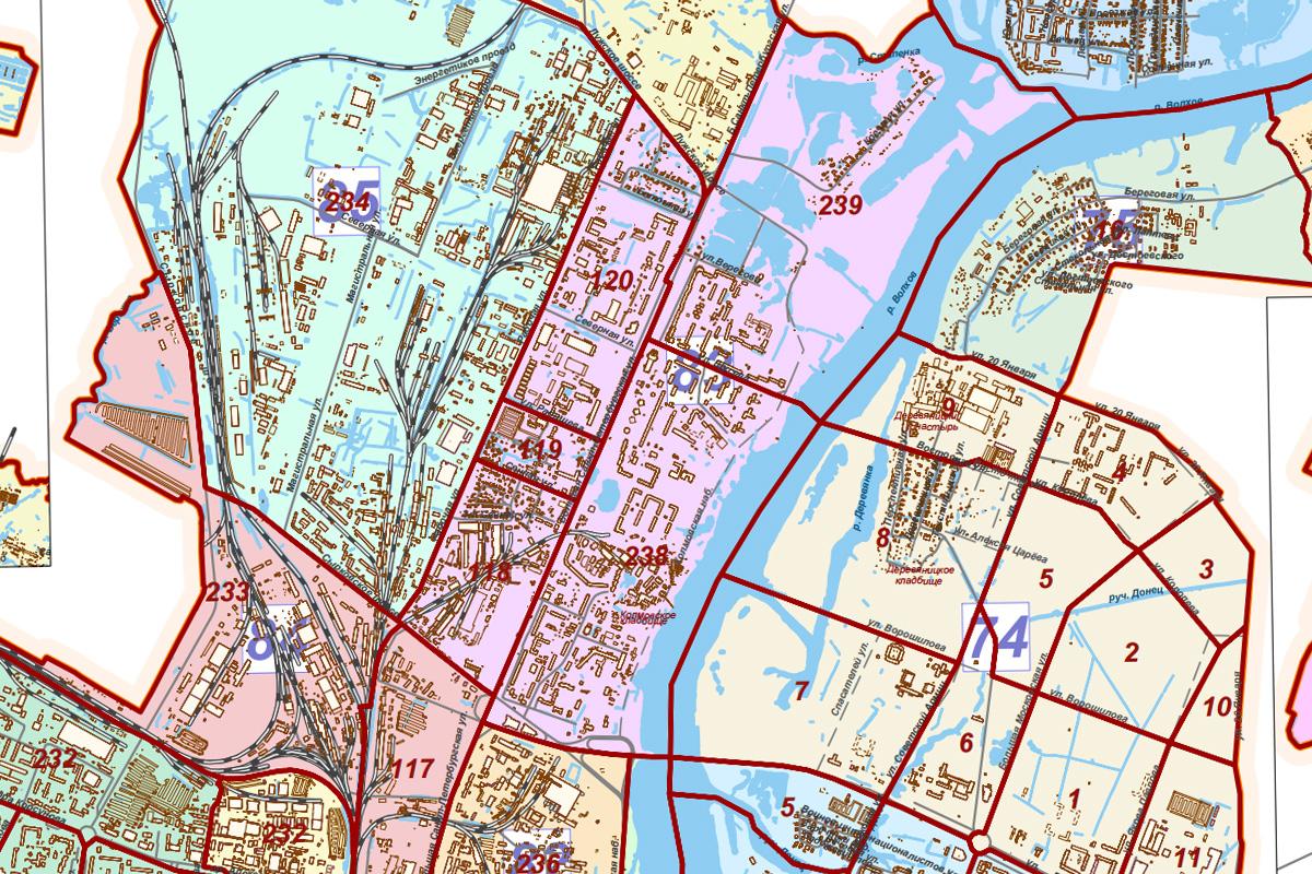Колмово на картах администрации